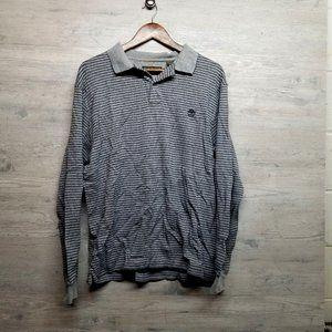 Timberland Striped Polo Long Sleeve Shirt. Soft!